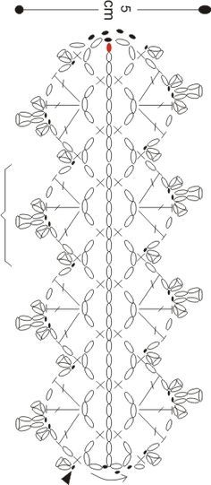 Crochet lace strip / tape / ribbon: diagram ~~ *schema