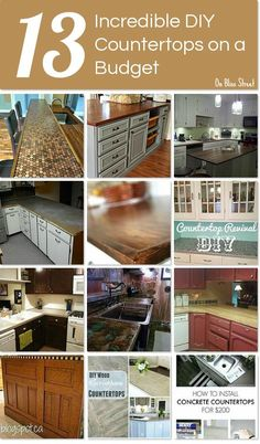 Kitchen Remodeling On A Budget 13 Incredible DIY countertops on a budget - 13 incredible DIY countertops on a budget