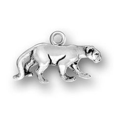 """Sterling Silver Womens 30"""" 1mm Box Chain 3D Full Bodied Walking Panther Cougar Jaguar Animal Pendant Necklace. 925 Sterling Silver Jewelry. Made In The USA!."""
