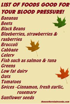 Foods for blood pressure..