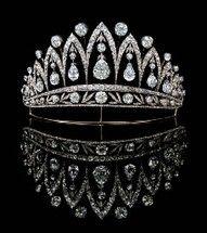 An antique diamond tiara, by Faberge.
