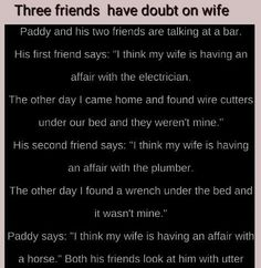 Three friends have doubts on their wife - Funny Joke Of The Day - Three friends have doubts on their wife 643 total views, 604 views today - Funny Long Jokes, Good Jokes, Hilarious, Bank Teller, Clean Jokes, I Coming Home, Joke Of The Day, Three Friends, Funny Pictures