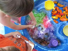 Smart Outdoor Play............enriched outdoor play, learn through play, outdoor learning, play based learning, sensory play, sensory table ideas, sensory tables, smart outdoor play, smart play, water table, water table ideas  @Emily Wise - what do you think about this for your toddler class?
