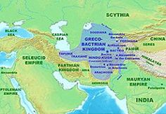 Greco-Bactrian Kingdom was the easternmost partof the Hellenistic world covering Bactria and Sogdiana in central Asia from 250 to 125 BC.