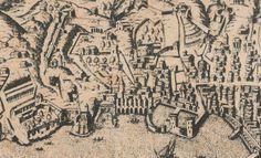 C'ERA UNA VOLTA GENOVA - Particular of the Map by Antonio Lafrery - Roma 1537- copy printed in 1581 - Palazzo Rosso Gallery - Genoa