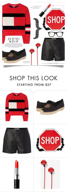 """""""TOMMY."""" by alexandrazeres ❤ liked on Polyvore featuring Tommy Hilfiger, Label Lab, Moschino, Bobbi Brown Cosmetics, Muse, éS and Balenciaga"""