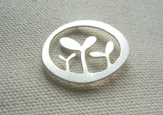 silver seedling brooch by Josephine Gomersall designs