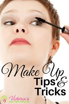 Here is a collection of my favorite makeup tips and tricks. Find more relevant stuff: skintightnaturals.com #MakeupTips #SkintightNaturals #VictoriasSkinCare #EyeShadow #EyeLiner #Moisturizer #TightenSkin