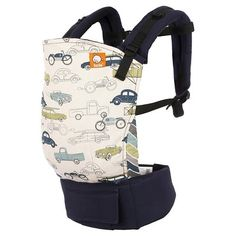 4c65ee7c3b4 Carry your little one safely and stylishly with the Baby Tula Slow Ride Baby  Carrier. With a cool car classic car print on its sturdy canvas material