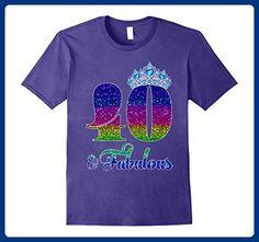 Mens 40 And Fabulous TShirt Queen 40th Birthday Shirt 3XL Purple - Birthday shirts (*Amazon Partner-Link)