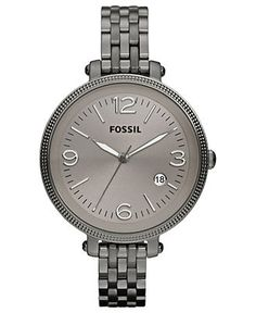 Fossil Watch, Women's Heather Smoke Tone Stainless Steel Bracelet 42mm ES3131 - Women's Watches - Jewelry & Watches - Macy's