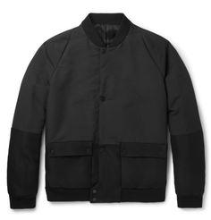 BalenciagaShell and Twill Bomber Jacket