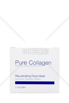 white box of collagen over white background. - Close-up shot of white package of pure collagen against plain white background.