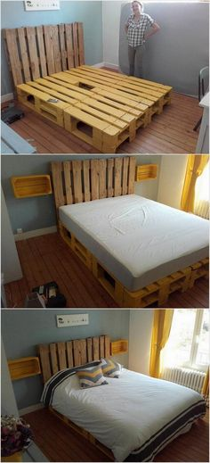 Diy pallet bed with storage pallet beds with storage pallet bed with storage new pallet bed . Wood Pallet Beds, Pallet Bed Frames, Diy Pallet Bed, Wooden Pallet Furniture, Diy Bed Frame, Bed Furniture, Wood Pallets, Furniture Stores, Furniture Dolly