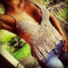 Top cropped crochet