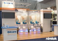 Nimlok designs custom and portable modular healthcare exhibits that bring clear ROI. For Bilcare, we created a 10' x 20' trade show display solution.