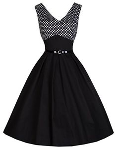 Lindy Bop 'Valerie' Vintage 50's Sophisticated Polka Dot Bust Swing Dress (XS, Black) Lindy Bop http://www.amazon.com/dp/B00P6L2UCY/ref=cm_sw_r_pi_dp_ZB0nvb1EVJN5Z