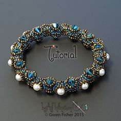 TUTORIAL Tentacle Bangle Bracelet Beaded with by gwenbeads on Etsy