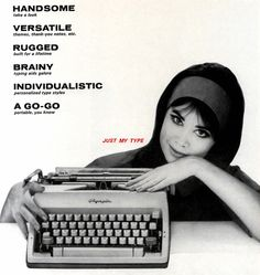 Vintage Typewriter Ad |  Colleen Corby