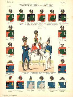 Королевство Бавария. Союзные войска. 1811 Uniformes de I'Armee Francaise 1690-1894 Lienhart & Humbert