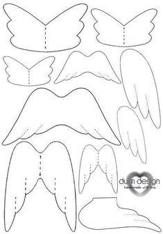 Moldes para hacer alas de angeles en tela Ideas de Manualidades