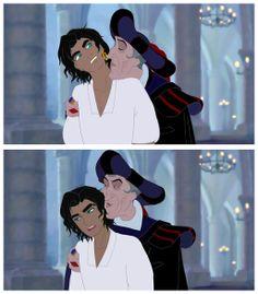 Esmeralda genderbend with Frollo by esmeraldo
