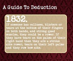A Guide To Deduction #1832 | Suggested Anonymously