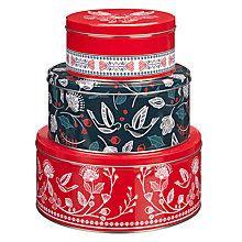 Buy John Lewis Folklore Storage Tins, Set of 3 Online at johnlewis.com
