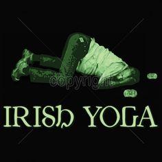 Irish Yoga Funny Beer Drinking T Shirt Saint Patrick Day Party Whiskey Hangovers #TShirtsRule #GraphicTee