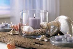 shells & candles - decorating idea