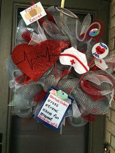 Nurses Retirement Party wreath.