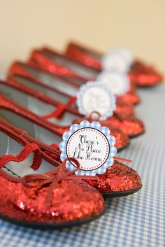 Wizard Of Oz Birthday Party. Shoes As The Party Favor…Yes Please!