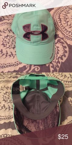 236ddd55c4d Nwot camo teal Under Armour hat Got as a gift but i am not a hat person.  Beautiful color mint teal Under Armour Accessories Hats