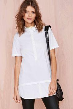 Nasty Gal White Lies Shirtdress | Shop Dresses at Nasty Gal