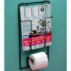 Deze Puhlmann Magazinerek en Toiletrolhouder is super handig, want je hebt alles bij de hand! Toiletpapier en jouw favoriete tijdschrift of krant. Een prachtig ontwerp van Boxtel en Buijs.