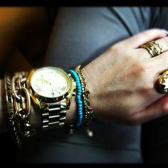 my arm swag #bracelets #watch #armcandy #rings