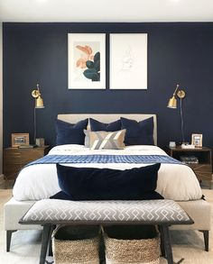 ideas home decored ideas modern bedroom interior design Mid Century Modern Bedroom, Bedroom Modern, Contemporary Bedroom, Minimalist Bedroom, Modern Contemporary, Bedroom Vintage, Minimalist Art, Modern Bathroom, Bedroom Classic