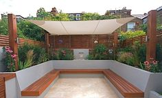 Garden seating - 40 Generous DIY Outdoor Bench Design Ideas for Backyard & Frontyard Garden Spaces, Diy Outdoor, Backyard Design, Garden Seating, Contemporary Garden, Patio Design, Bench Designs, Diy Bench Outdoor