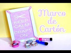 (32) DIY: Marco Para Fotos De Cartón [Reciclaje] - Brotes De Creatividad - YouTube