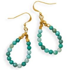 Handmade 14/20 Gold Filled Moss Opal Earrings