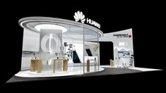 HUAWEI Mate9 Roadshow on Behance Stand Design, Display Design, Temporary Architecture, Exhibition Booth Design, Round House, Trade Show, Online Portfolio, 3ds Max, Advertising