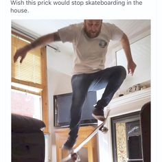 Is skating in the house really a no go?