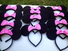 Minnie Mouse Inspired Bow Headband With by uniqueboutiquebygami, $96.00