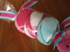 baby washcloth candy