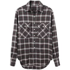 R13 Oversized Flannel Shirt (£270) ❤ liked on Polyvore