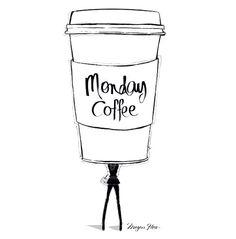 Megan Hess ~ Monday coffee