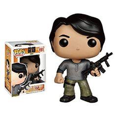 Funko - Bobugt123 - Figurine Cinéma - The Walking Dead - Bobble Head Pop 151 Prison Glenn !