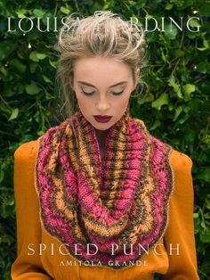 *FREE* spiced punch cowl knitting pattern download from Louisa Harding