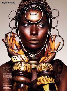 Nat Prakobsantisuk's Colour Major Story Boasts Ethnic Beauty Looks #fashion #photography trendhunter.com