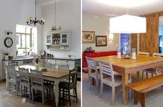 Sua própria combinação de mesa e cadeiras na sala de jantar